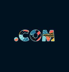 dot com concept word art vector image