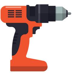 Drill icon electric hand machine vector