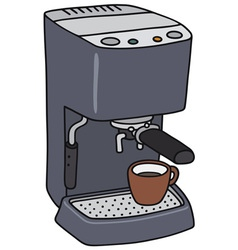 Electric espresso maker vector image