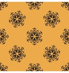 Endless elegant Ornamental stylized flower pattern vector image