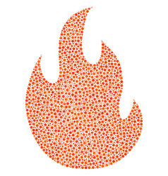 Fire flame composition of dots vector