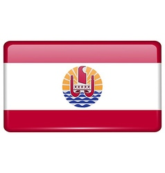 Flags french polynesia in the form of a magnet on vector