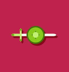 flat icon design collection sword and shield in vector image