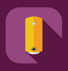 Flat modern design with shadow icons boiler vector