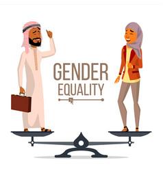 gender equality businessman business vector image
