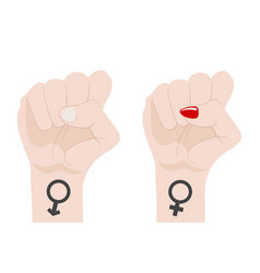 gender equality male and female man and woman vector image