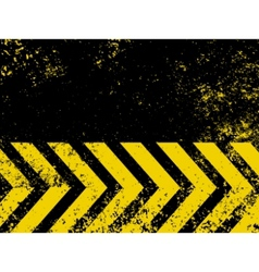 grungy hazard stripes vector image