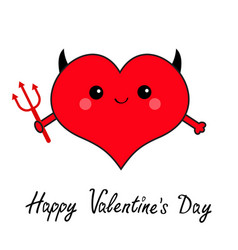 Happy valentines day sign symbol red heart face vector