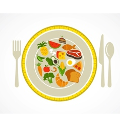 Health food plate vector image