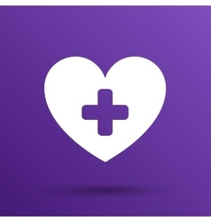 Heart icon medical life health vector