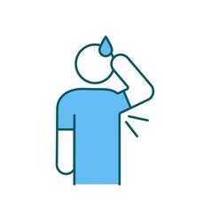 Hyperhidrosis disorder rgb color icon vector