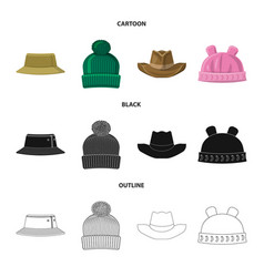 isolated object of headgear and cap icon vector image