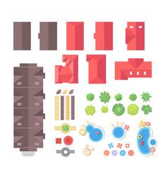 landscape elements - set of modern objects vector image