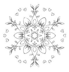 mandala easter vector image