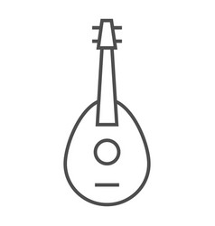 Mandolin thin line icon musical and string vector