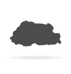 Map butane isolated black on vector