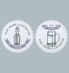 monochrome labels design with mug vector image