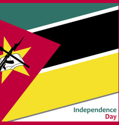 Mozambique independence day vector