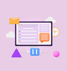 online chat concept vector image