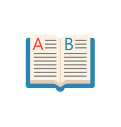 open book flat icon education and school element vector image