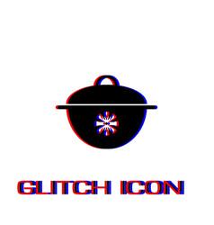 pan icon flat vector image
