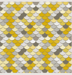Paper scales seamless squama metal pattern vector