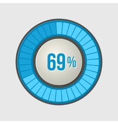 Ring Loading Progress Bar on Light Background vector