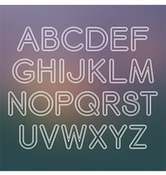 Sans serif font with rounded corners vector image