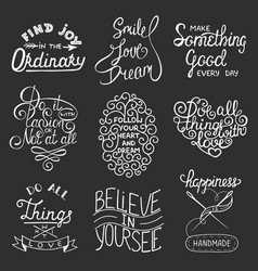 Set inspirational typography slogans for vector