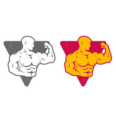 set logos for bodybuilding vector image