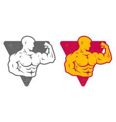 Set logos for bodybuilding vector