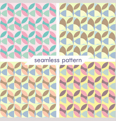 Set of four seamless geometrical patterns 24 vector