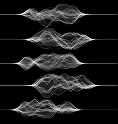set pulsation or vibration graphics music or vector image