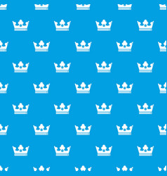 Steel crown pattern seamless blue vector