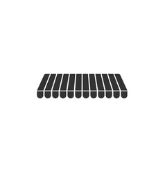 Striped awning icon isolated outdoor sunshade vector