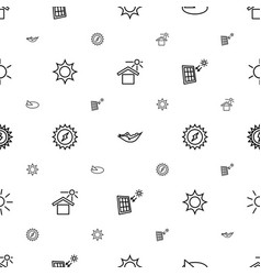 Sun icons pattern seamless white background vector