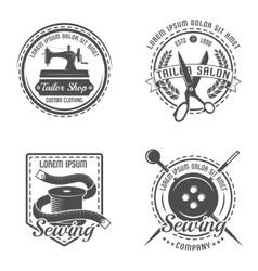 Tailor Detail Emblem Set vector image