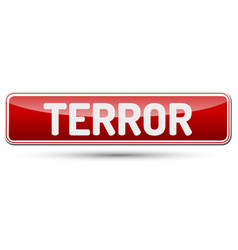 Terror - abstract beautiful button with text vector