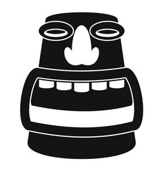 Tiki idol head icon simple style vector