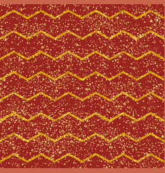 tile pattern with yellow stripes golden dust vector image