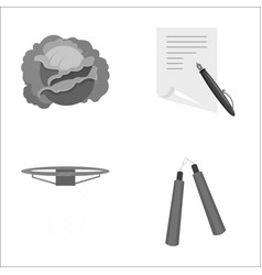 Travel cooking park and other monochrome icon in vector