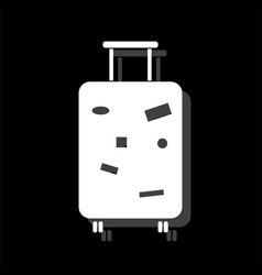 travel luggage icon flat vector image