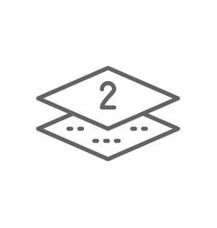 Two-layer napkin paper line icon vector
