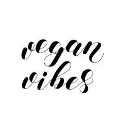 Vegan vibes lettering vector