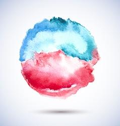 Watercolor Spot Blue Pink vector