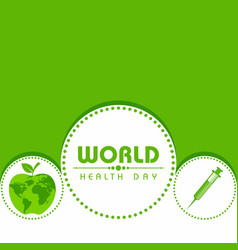 world health day greeting vector image