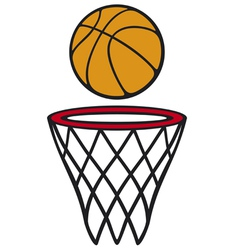 Basketball hoop and ball vector image