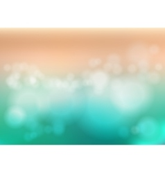 Bokeh blur romantic pink green backdrop with fog vector image
