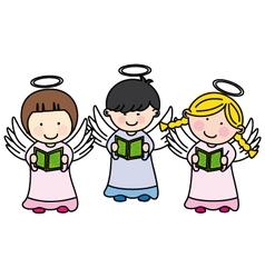 Children making communion vector