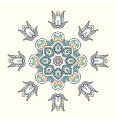 Circle lace steampunk ornament round ornamental vector image